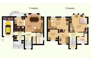 КГ Новая Березовка: планировка 5-комнатной квартиры 199 м²