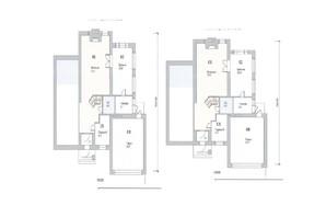 КГ Новая Березовка: планировка 6-комнатной квартиры 233 м²