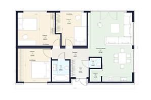 КГ Новая Конча-Заспа Crystal: планировка 4-комнатной квартиры 90 м²