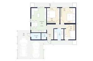 КГ Новая Конча-Заспа Crystal: планировка 4-комнатной квартиры 91 м²