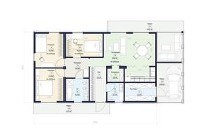 КГ Новая Конча-Заспа Crystal: планировка 4-комнатной квартиры 111 м²