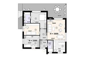 КГ Новая Конча-Заспа Crystal: планировка 4-комнатной квартиры 114 м²