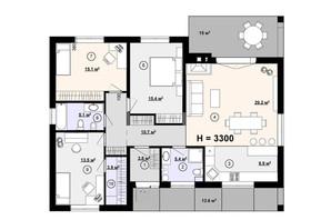 КГ Новая Конча-Заспа Crystal: планировка 4-комнатной квартиры 120 м²