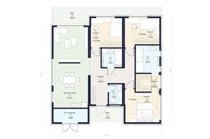 КГ Новая Конча-Заспа Crystal: планировка 4-комнатной квартиры 123 м²