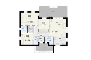 КГ Новая Конча-Заспа Crystal: планировка 4-комнатной квартиры 151 м²