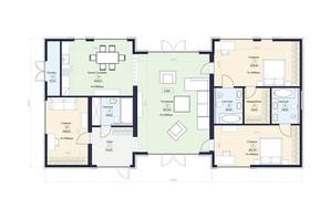 КГ Новая Конча-Заспа Crystal: планировка 4-комнатной квартиры 166 м²