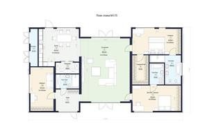 КГ Новая Конча-Заспа Crystal: планировка 3-комнатной квартиры 201 м²