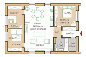 КГ Oklahoma Cottage Town: планировка 1-комнатной квартиры 84 м²