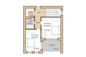 КГ Oklahoma Cottage Town: планировка 1-комнатной квартиры 112 м²