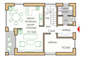 КГ Oklahoma Cottage Town: планировка 1-комнатной квартиры 115 м²