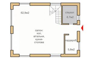 КГ Oklahoma Cottage Town: планировка 1-комнатной квартиры 144.4 м²