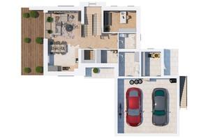 КГ Ozon village: планировка 3-комнатной квартиры 215.51 м²