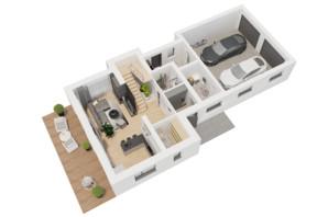КГ Ozon village: планировка 3-комнатной квартиры 221.21 м²