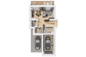 КГ Ozon village: планировка 3-комнатной квартиры 160 м²