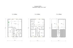 КГ Премиум на Орлыка: планировка 5-комнатной квартиры 220 м²