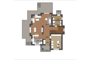 КГ Провесинь: планировка 3-комнатной квартиры 176 м²