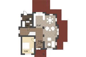КГ Провесинь: планировка 4-комнатной квартиры 175 м²