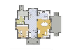 КГ Провесинь: планировка 3-комнатной квартиры 199 м²