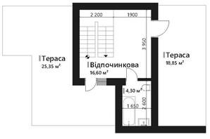 КГ Renaissance: планировка 6-комнатной квартиры 149.25 м²