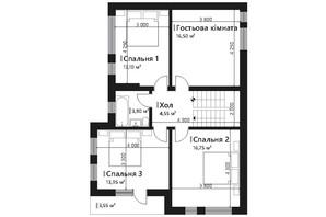 КГ Renaissance: планировка 7-комнатной квартиры 157.45 м²