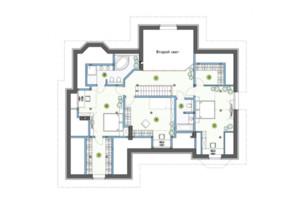 КГ Рославичи: планировка 4-комнатной квартиры 260 м²