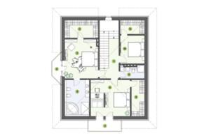 КГ Рославичи: планировка 3-комнатной квартиры 210 м²