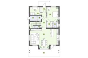 КГ Рославичи: планировка 3-комнатной квартиры 186.5 м²