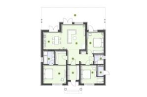 КГ Рославичи: планировка 3-комнатной квартиры 134 м²