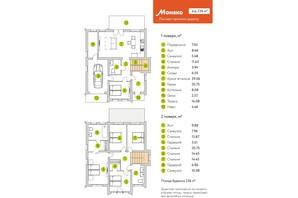 КГ Семь озер: планировка 5-комнатной квартиры 236 м²