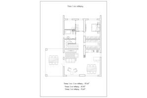КГ Солнечный склон: планировка 3-комнатной квартиры 157.1 м²