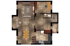 КГ Вита Парковая: планировка 4-комнатной квартиры 180 м²