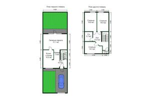 КГ Янтарный коттедж: планировка 1-комнатной квартиры 160 м²