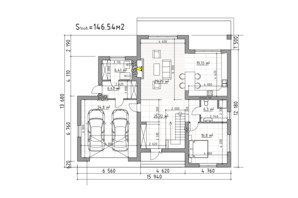 КГ Затишок: планировка 4-комнатной квартиры 227.17 м²