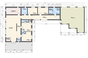 КК Городок здоровья: свободная планировка квартиры 401 м²
