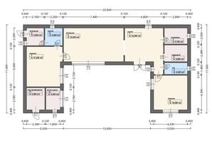 КК Городок здоровья: свободная планировка квартиры 170 м²