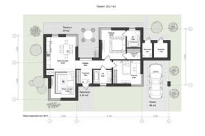 КМ 9 Елементів: планування 3-кімнатної квартири 111.7 м²