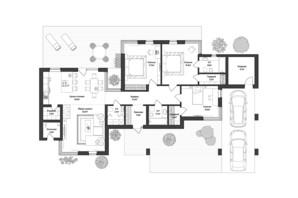 КМ 9 Елементів: планування 3-кімнатної квартири 161.5 м²