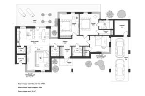 КМ 9 Елементів: планування 3-кімнатної квартири 166.2 м²