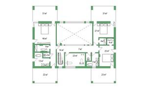 КМ Белгравія: планування 5-кімнатної квартири 485 м²
