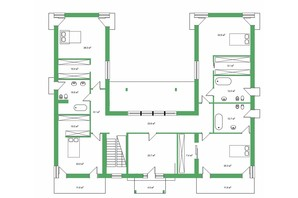 КМ Белгравія: планування 5-кімнатної квартири 509 м²