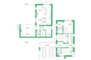 КМ Белгравія: планування 3-кімнатної квартири 178 м²