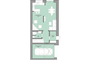 КМ Bruhsell: планування 3-кімнатної квартири 140 м²
