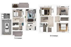 КМ Ecopark: планування 4-кімнатної квартири 186 м²