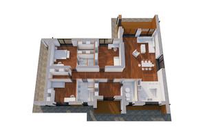 КМ Еталон: планування 3-кімнатної квартири 152 м²