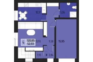 КМ Eurovillage: планування 3-кімнатної квартири 187.6 м²