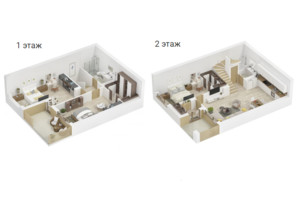 КМ Golden Hills: планування 3-кімнатної квартири 124 м²