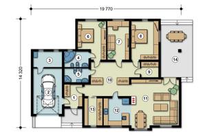 КМ Green Town: планування 4-кімнатної квартири 310 м²