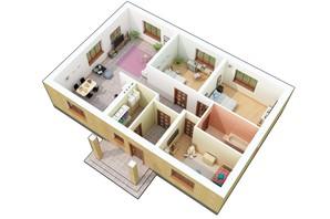 КМ Green city: планування 4-кімнатної квартири 108.95 м²