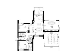 КМ Mulberry Homes: планування 4-кімнатної квартири 124 м²