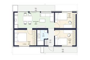 КМ Нова Конча-Заспа Crystal: планування 3-кімнатної квартири 59 м²